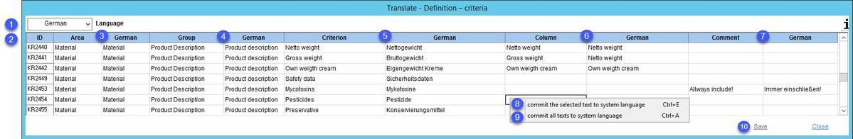 Administration > General > Criteria Structure